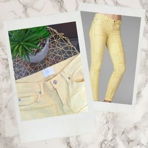 7 for All Mankind ▪ Yellow Patchwork Denim Jeans